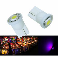 50x#555 T10 1 SMD 5050 LED Pinball Machine Light Bulb Purple (Pink) 6.3V P2
