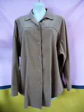 MY SIZE Size XL 24 26 Tan Jacket Shirt SUEDE FEEL Button Up Long Sleeves 2222