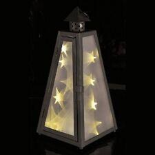 LED Laterne mit Holographiefolie für tollen Sterneneffekt mit 12 warmweißen LEDs