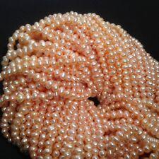 "4 strands Fresh Water Pearl, Peach Potato 5-5.mm  temporary strung 15.5"" WP345-5"