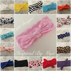 Girls Baby Toddler Headband Top Knot Fabric Hair Bow Band Turban Accessory