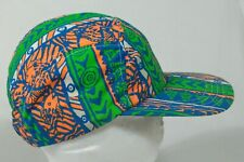 Vintage 90s NEON Cycle URBAN  FRESH BEL AIR 5 pannel HAT CAP USA made HYPE RETRO