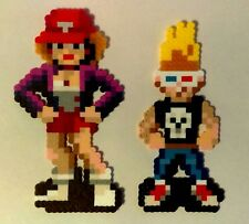 Zombies Ate My Neighbors Zeke & Julie Perler bead wall pixel art SNES Nintendo