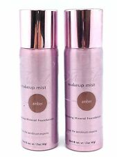 2-AERO MINERALE MAKEUP MIST SPRAY ON FOUNDATION COSMETIC BROWN Amber ETHNIC SKIN