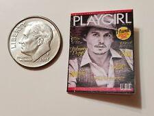 Miniature Dollhouse  Barbie 1/12 Scale  PlayGirl  Play Girl Johnny Depp
