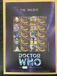 DOCTOR WHO , THE DALEKS .ONLY 1000 SHEETS ISSUED. GETTING HARD TO FIND.LOW PRICE
