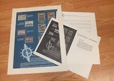 Authentic  Early Transportation World Of Stamps Collectible Series W/ COA Only