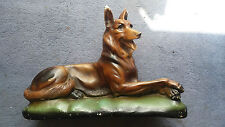 Vintage  alsatian dog  about 2ft long 16in tall