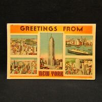 POSTCARD GREETINGS FROM NEW YORK POSTMARKED 1939