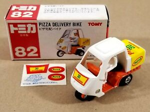 TOMY Tomica Pizza Delivery Bike / #82 / Red & White Box Made in Japan Near Mint
