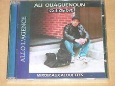 CD + CLIP DVD RARE / ALI OUAGUENOUN / ALLO L'AGENCE / MIROIR AUX ALOUETTES /NEUF