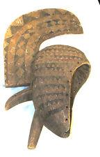 CEREMONIAL OLD AFRICAN BIRD MASK w/CREST & BEAK-DETAILED-Est.1930s BURKINA FASO