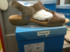 ,Ladies Taupe Leather Sandals Size 4