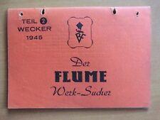 Rudolf Flume Werk-Sucher Wecker 1945 große kleine Weckerwerke Etuis 8-Tag Uhren