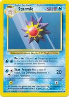 Starmie Common Pokemon Card Base Set Unlimited English 64/102
