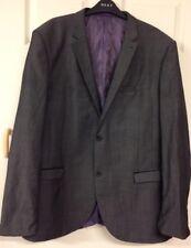 Next Men's Super 100's Suit Trousers 42R 32L Angelico Jacket 46L Grey 100% Wool