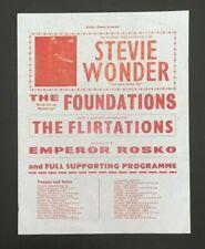 STEVIE WONDER  Original UK Concert Tour Handbill Flyer 1969