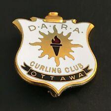 New listing VINTAGE CURLING PIN D.A.R.A. CURLING CLUB OTTAWA  (Birks written on back)