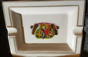 Large Vintage Porcelain Romeo Y Julieta Ashtray Gold Accents Super Rare