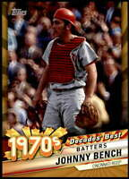 Johnny Bench 2020 Topps Decade's Best Series 2 5x7 Gold #DB-41 /10 Reds