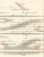 1822 Coarse Cloth of 7 convicts for transportation to Bencoolen ship Earl Kellie