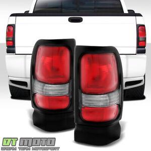 Right 94-01 Dodge Ram 1500 Pickup Smoke Lens LED Tail Brake Lights Lamps Left