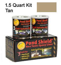 Tan 1.5 Quart Kit Pond Armor Shield Non Toxic Epoxy Sealer Pond Liner Paint