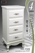 MOBILE CASSETTIERA 4 CASSETTI IN LEGNO 40X30X82 574290
