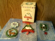 Rhtf 3 Pc Holiday Ceramic Magnet Set-Maredy Candy Company-New In Box-Free Ship