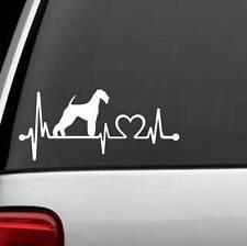 K1078 Airedale Terrier Dog Heartbeat © Monitor Decal Sticker Bingley Waterside