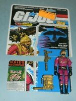 1988 GI Joe Cobra Iron Grenadiers Voltar v1 Figure w/ File Card Back *Complete