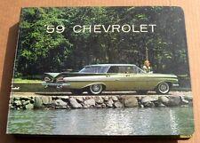 1959 Chevrolet AUTHENTIC ORIGINAL Dealer Showroom Sales Album