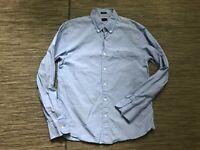 J Crew Adult Mens Large Slim Secret Wash Button Down Shirt Blue A0233