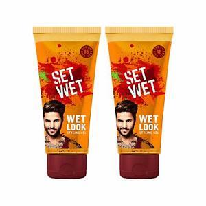 Set Wet wet Look Hair Styling Gel For Men, 100ml (Pack of 2)