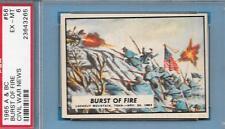 CIVIL WAR NEWS CARD 56 BURST OF FIRE 1965 A & BC LOOKOUT MOUNTAIN PSA GRADED EMT