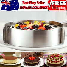 6-12 Inch Round Size Adjustable Baking Mould Stainless Steel mold Cake Ring Pan