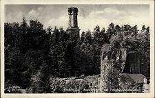 Rochlitz  DDR s/w AK 1957 Blick auf den Aussichtsturm und Porphyr Steinbrüche