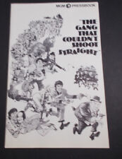 X    THE  GANG THAT COULDN'T SHOOT STRAIGHT--MOVIE PRESS BOOK-