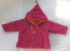 Girls CONFETTI Boutique Winter Jacket Coat Velour Faux Sherpa France Size 18M
