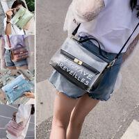 Womens transparent Jelly sac porte-sacs sac sac bandoulière  IY