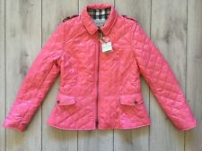 New original Burberry women Pink quilted jacket Size M ( Us - 02 ; It - 38 )