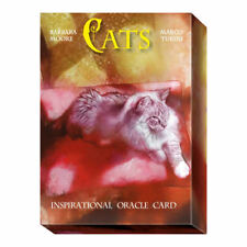 Cats Oracle by Barbara Moore 32 Inspirational Cards with Guidebook