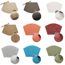 Fan-shaped Pads Non-Slip Heat Insulation Placemats Bamboo Pattern Tableware Mat
