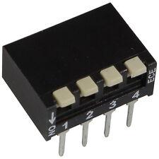 2 ECE EPH-104-LZ DIP-Schalter 4-polig Piano 24V DC 25mA DIL Switch RM2,54 855923