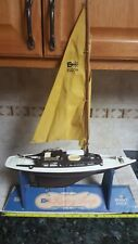 Vtg 1960's Eldon Racing Sloop Boat Toy in Original Display sailing ship
