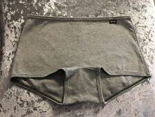 NEW Genuine PINK Victoria's Secret Grey Ribbed Boyshort/Boxer Size S UK 8-10