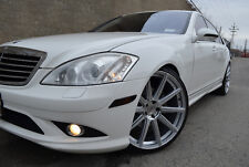 4 GWG Wheels 22 inch STAGGERED Silver MOD Rims fits MERCEDES S550