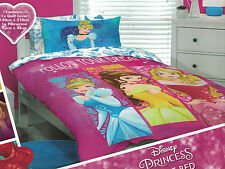 DISNEY PRINCESS FOLLOW YOUR DREAMS CINDERELLA & BELLE QUILT COVER SET SINGLE NEW