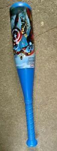 """Kids toddler marvel avengers blue toy 20"""" hollow plastic outdoor Baseball Bat"""