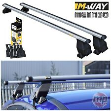 M-Way Aluminium Roof Rack Rail Cross Bars for Citroen C4 (04>10) + Fixing Kit 16